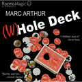 The (W)Hole Deck Red (DVD and Gimmick) by Marc Arthur and Kozmomagic - DVD