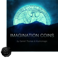 Imagination Coins Euro (DVD and Gimmicks) by Garrett Thomas and Kozmomagic - DVD