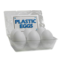 High Quality Plastic Eggs(White / 6-pack)by The Great Gorgonzola - Trick