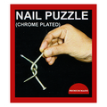 Nail Puzzle (Chrome Plated) by Premium Magic - Trick