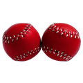 Chop Cup Balls Red Leather (Set of 2) by Leo Smetsers - Trick