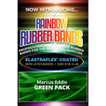 Joe Rindfleisch's Rainbow Rubber Bands (Marcus Eddie - Green Pack  ) by Joe Rindfleisch - Trick