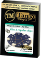 Magnetic Poker Chip Blue plus 3 regular chips (PK003B) by Tango Magic - Trick