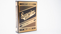 Superior Skull & Bones V2 (Black/Gold) Playing Cards by Expert Playing Card Co.