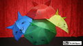 Umbrella Production Silk by Mr. Magic (4 Umbrellas) - Trick