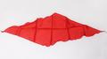 Diamond Cut Silk 12 inch (RED) Magic by Gosh - Trick