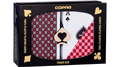 COPAG MASTER PLASTIC PLAYING CARDS POKER SIZE REGULAR INDEX BLACK/RED DOUBLE-DECK SET