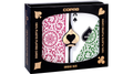Copag 1546 Plastic Playing Cards Bridge Size Regular Index Green/Burgundy Double-Deck Set