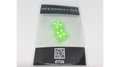 Dice Without Two CLEAR GREEN (2 Dice Set) by Nahuel Olivera Magic and Aton Games - Trick