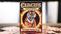 Limited Edition Circus Nostalgic Red Gilded Playing Cards