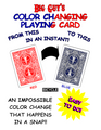 Color Changing Playing Cards Bicycle (Red to Blue) By Big Guy's Magic