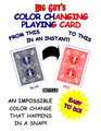Color Changing Playing Cards Bicycle (Blue to Red) By Big Guy's Magic