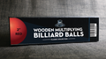 "Wooden Billiard Balls (2"" Red) by Classic Collections - Trick"