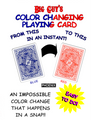 Color Changing Playing Cards Phoenix (Blue to Red) By Big Guy's Magic