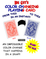 Color Changing Playing Cards Phoenix (Red to Blue) By Big Guy's Magic