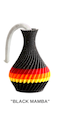 "The American Prayer Vase /Genie Bottle ""BLACK MAMBA"" by Big Guy's Magic"