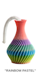 "The American Prayer Vase /Genie Bottle ""RAINBOW PASTEL"" by Big Guy's Magic"