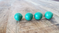 Set of 4 Leather Balls for Cups and Balls (Green) by Leo Smetsers - Trick