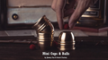 Mini Cups and Balls (Brass) by Secret Factory