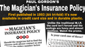 The Magician's Insurance Policy by Paul Gordon - Trick