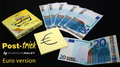 POST TRICK EURO (Gimmicks and Online Instructions) by Gustavo Raley - Trick