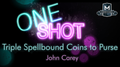 MMS ONE SHOT - Triple Spellbound Coins to Purse by John Carey video DOWNLOAD