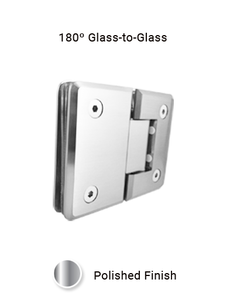 SHCAGG180CP 180º Glass-to-Glass Hinge in Chrome Polished Finish