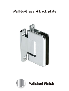 SHHCAWMCP Wall Mount H Back Plate in Chrome Polished Finish