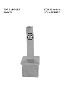 TS648040SWIBS Tube support swivel for 40x40mm square tube