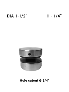 "SO681215025BS Dia with 1-1/2"" X 1/4"" SS316"