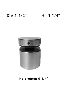 "SO681615125BS Dia 1-1/2"" X 1-1/4"" in SS316 Brushed Stainless"