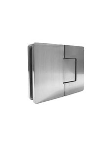 SHVANGG180EDBN Concealed Holes 180 Degree Glass-to-Glass Brushed Nickel Finish