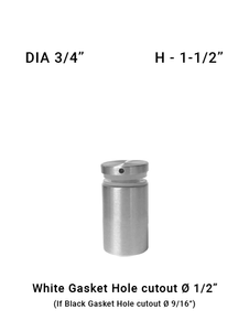 "SO68247515XBS  3/4"" Dia with 1-1/2"" Height SS316"