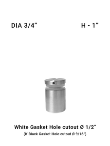 "SO68227510XBS 3/4"" Dia with 1"" Height SS316"