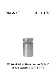 "SO682375125BS 3/4"" Dia with 1-1/4"" Height SS316"