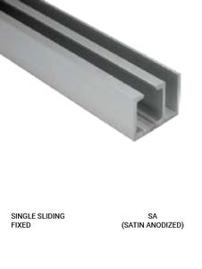 SLEZSFSA Single Sliding Fixed Satin Anodized