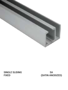 SLEZSFSA Single Sliding Fixed Satin Anodized