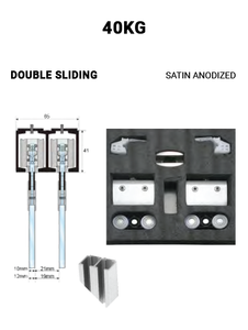 SLEZ40STSA-DS  Double Sliding 40KG (Satin Anodized)