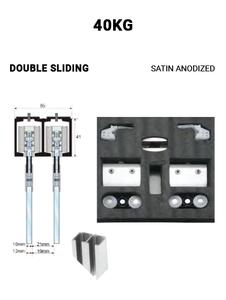 Double Sliding 40KG (Satin Anodized)