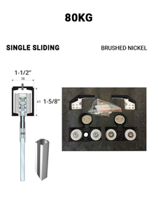 SLEZ80STBN-SS Single Sliding 80 KG (Brushed Nickel)