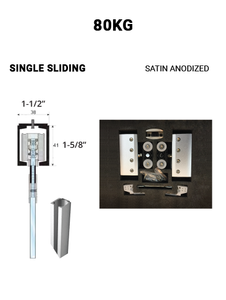 SLEZ80STSA-SS Single Sliding 80KG (Satin Anodized)