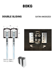 SLEZ80STSA-DS  Double Sliding 80KG (Satin Anodized)