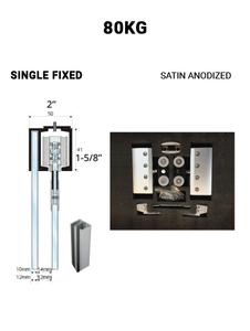 SLEZ80STSA-FS  Single Fixed Sliding 80KG (Satin Anodized)