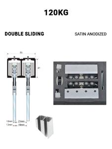 SLEZ120STSA-DS Double Sliding 120KG (Satin Anodized)