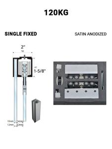 SLEZ120STSA-SF Single Fixed Sliding 120KG (Satin Anodized)