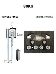 SLEZ80STBA-SF Single Fixed Sliding 80KG (Bright Anodized)