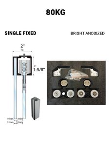 Single Fixed Sliding 80KG (Bright Anodized)