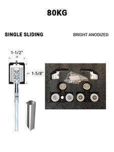 SLEZ80STBA-SS  Single Sliding 80KG (Bright Anodized)