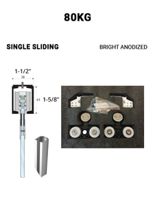 Single Sliding 80KG (Bright Anodized)