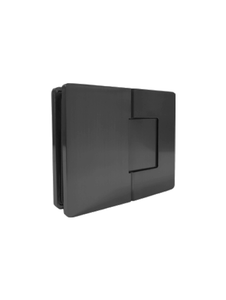 SHVANGG180EDMBL Concealed Holes 180 Degree Glass-to-Glass (Matte Black Finish)